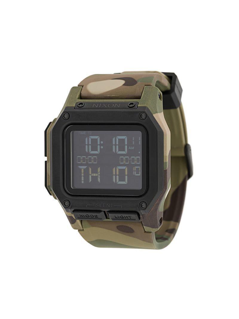 09c4cf2ff032 Reloj Regulus con motivo militar Nixon de hombre de color Verde - Lyst