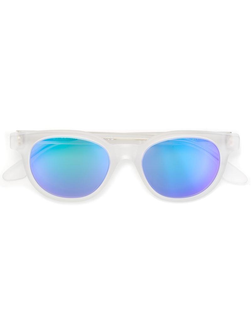 cdc2ce09af Lyst - Retrosuperfuture  riviera Crystal Flash Matte  Sunglasses in ...
