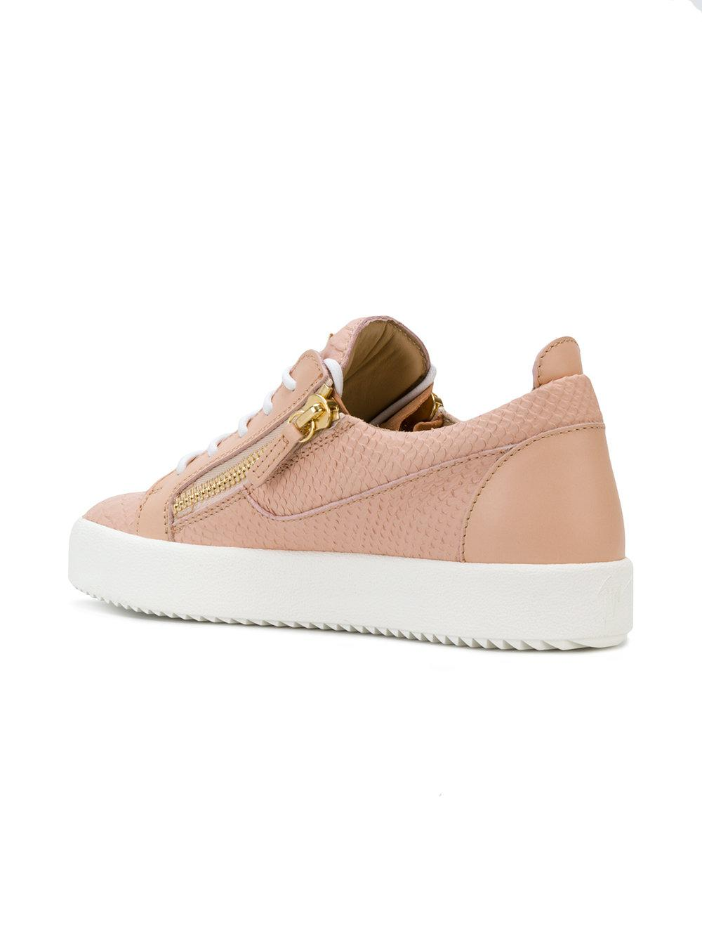 Nicki python printed sneakers - Pink & Purple Giuseppe Zanotti hpysavwn