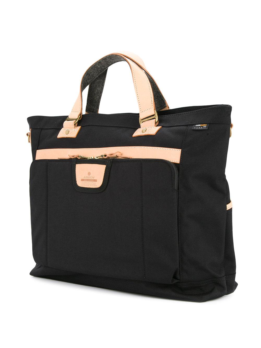 Lyst as2ov two tone tote bag in black for Calvin klein jardin collection