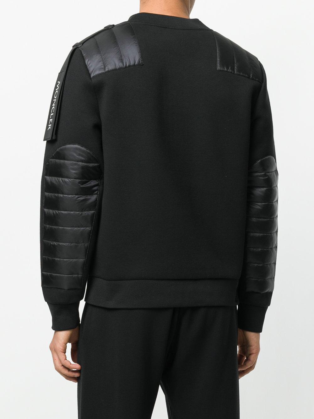 Moncler Wool Shoulder Panel Jumper in Black for Men