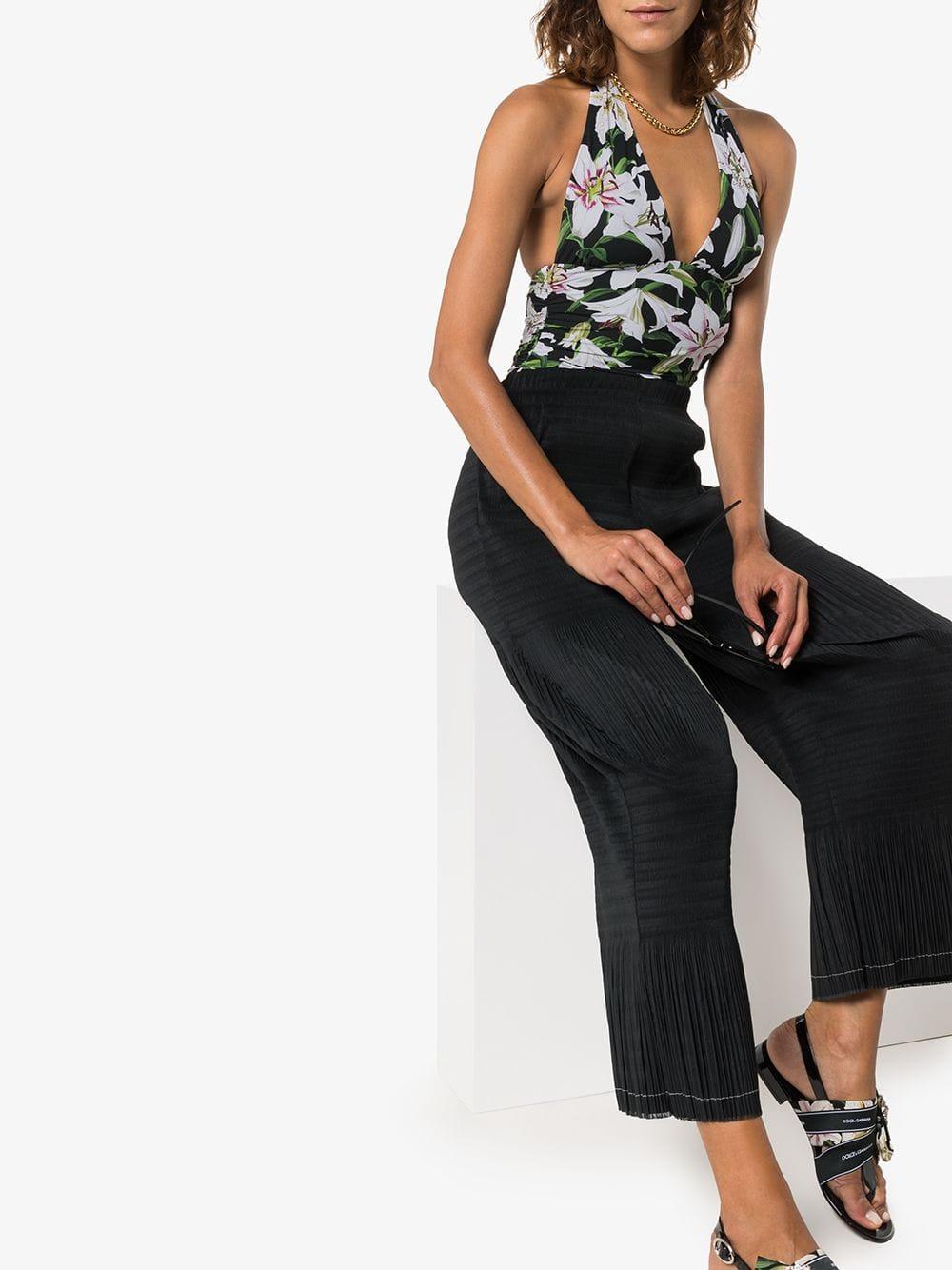 Bañador con motivo de lirios Dolce & Gabbana de Tejido sintético