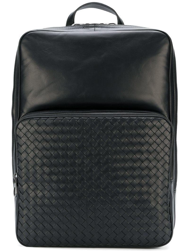 a003cd58b2 Lyst - Bottega Veneta Nero Nappa Backpack in Black for Men
