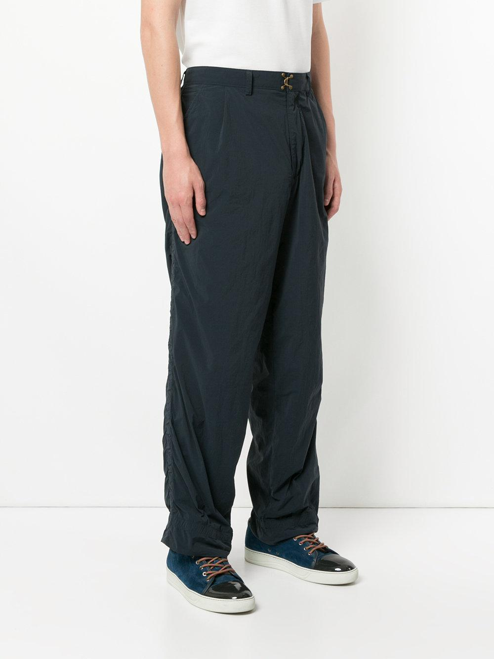 Kolor Loose Fit Bunched Trousers in Blue for Men