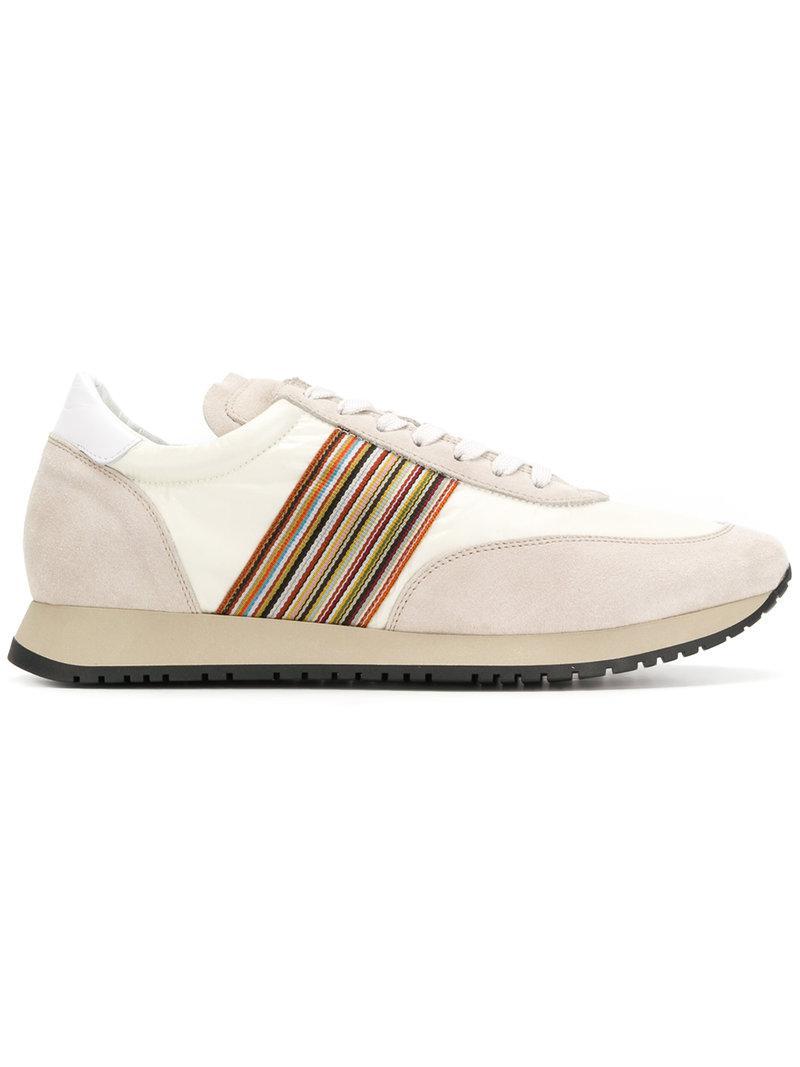 Paul SmithStriped strap sneakers I8n3Bl8r1R