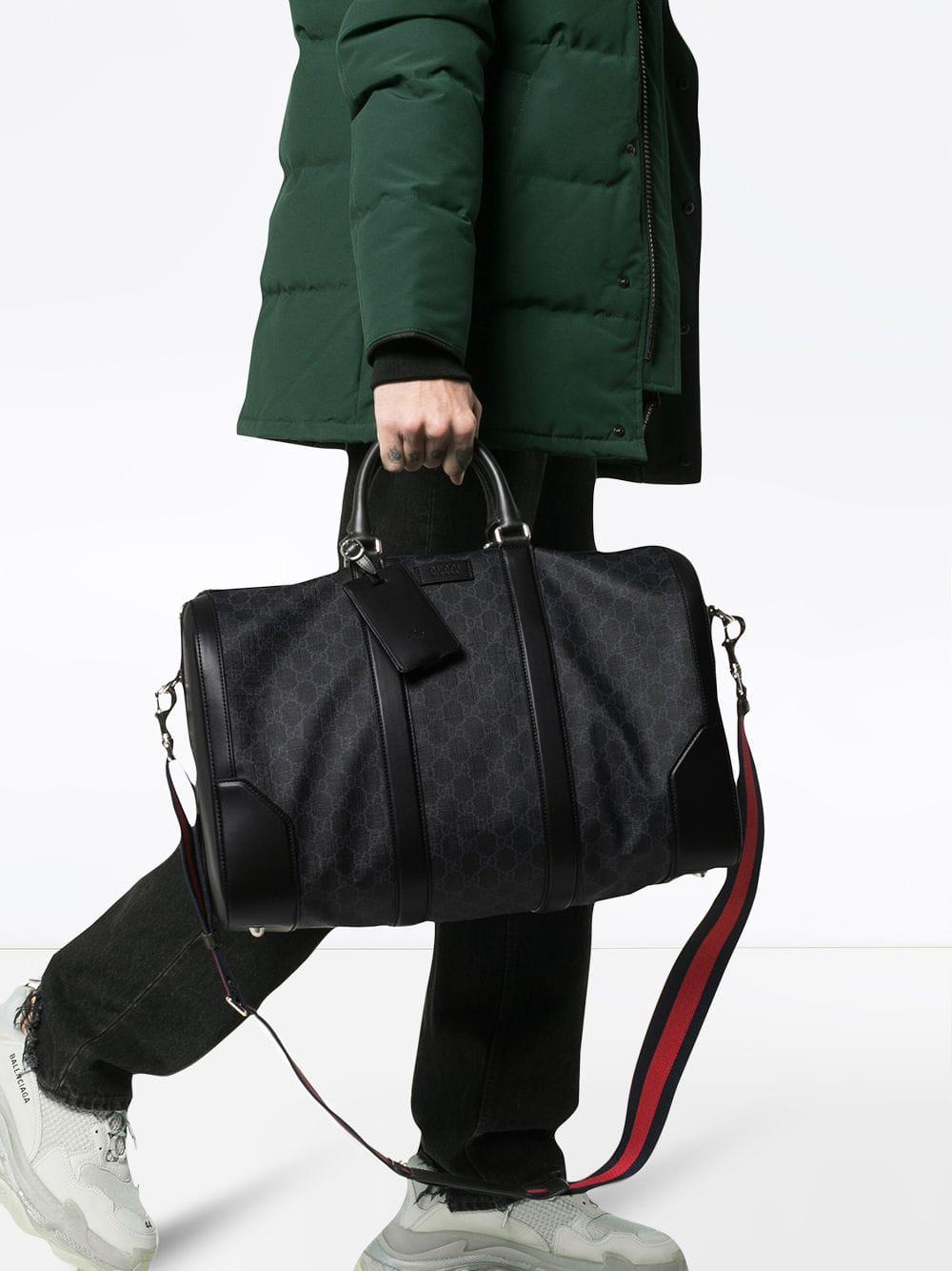 6665c497f0bdf3 Gucci Soft GG Supreme Carry-on Duffle in Black for Men - Save 10% - Lyst