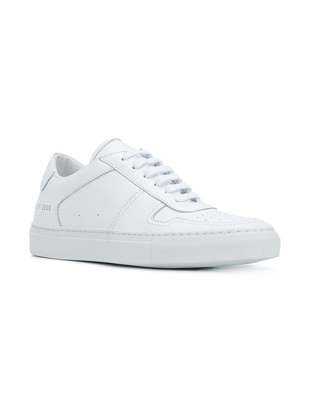 Common Projects Leather Bball Low Sneakers in White