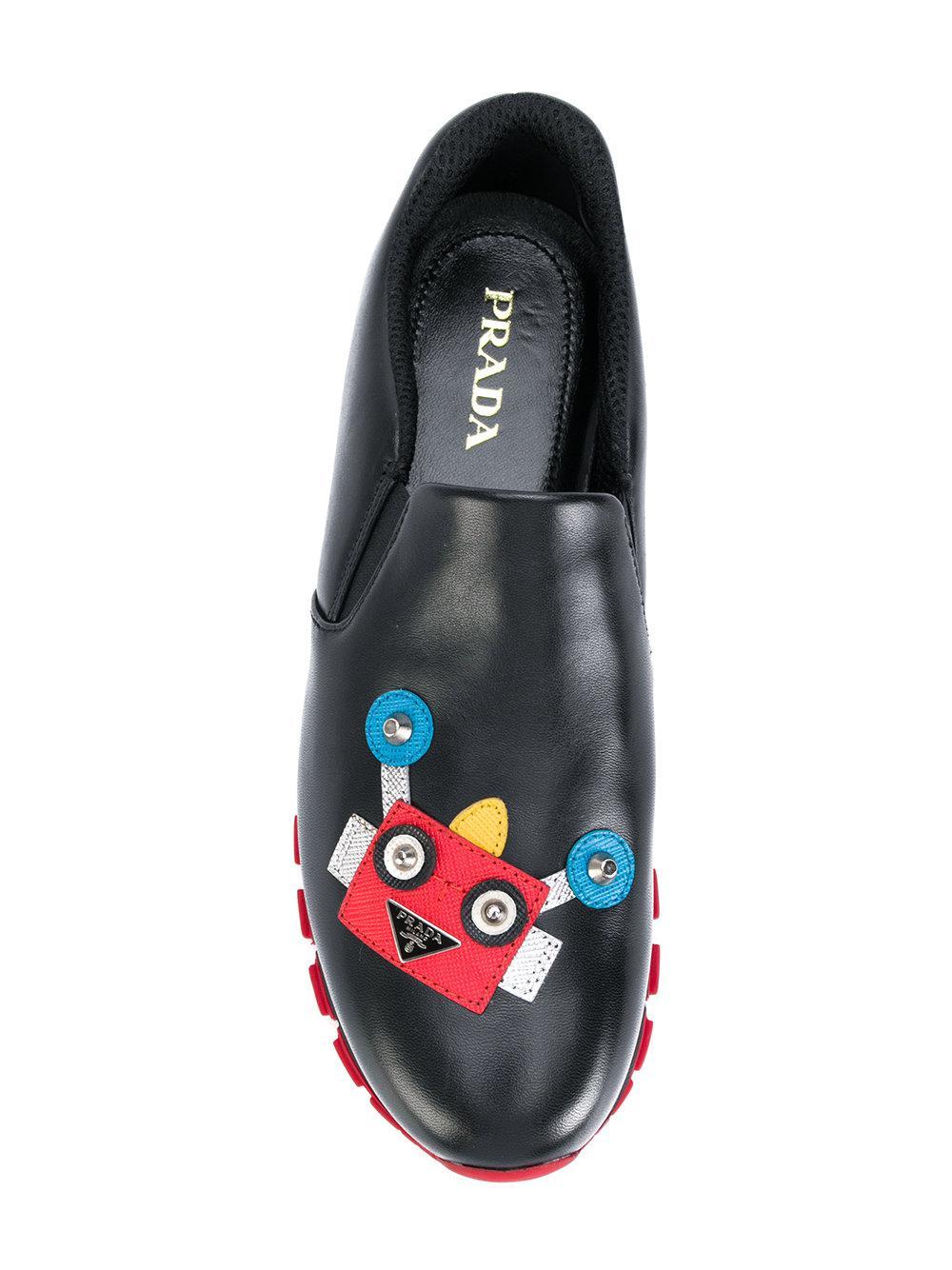 Prada Sneakers Decorate Con Robot in Black