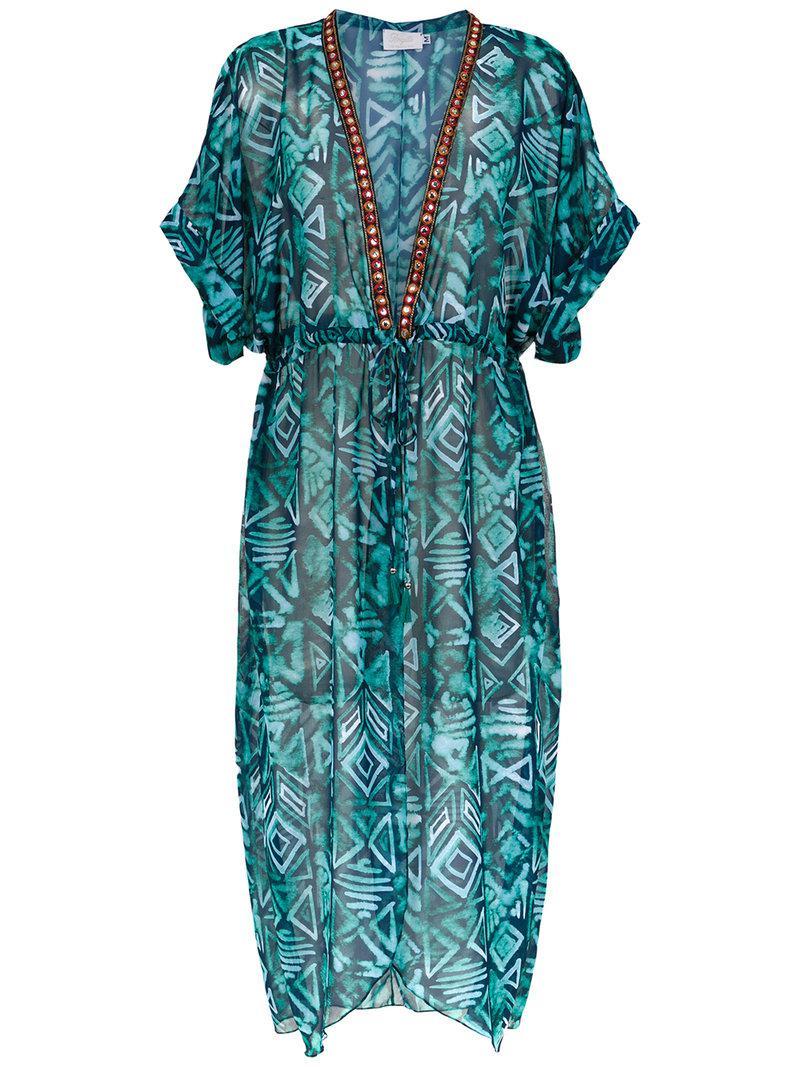silk beach dress - Blue Brigitte NQGXNXj7Cz