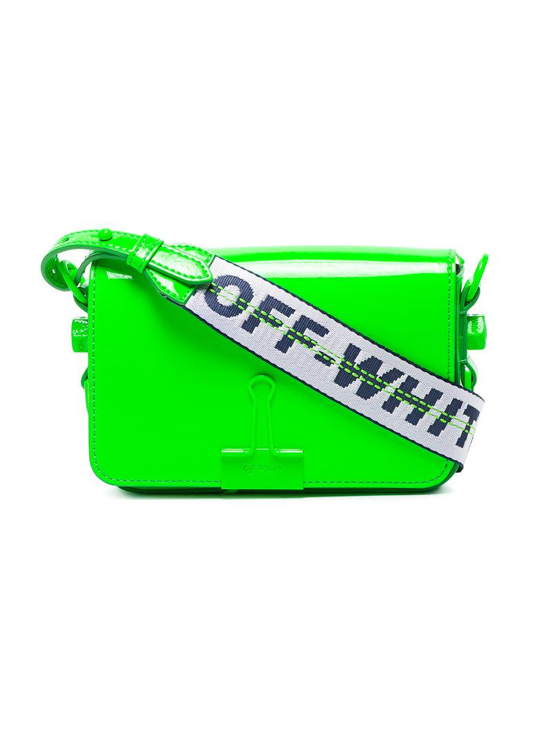 Off-White c/o Virgil Abloh Synthetic Mini Binder Clip Cross-body Bag in Green