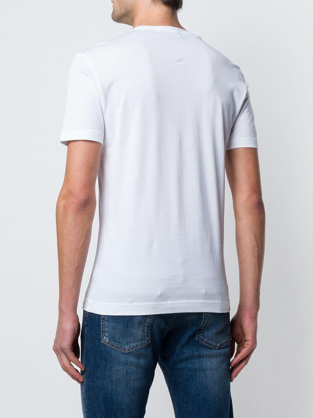 Dolce & Gabbana Katoen Trui Met Logo Plakkaat in het Wit voor heren