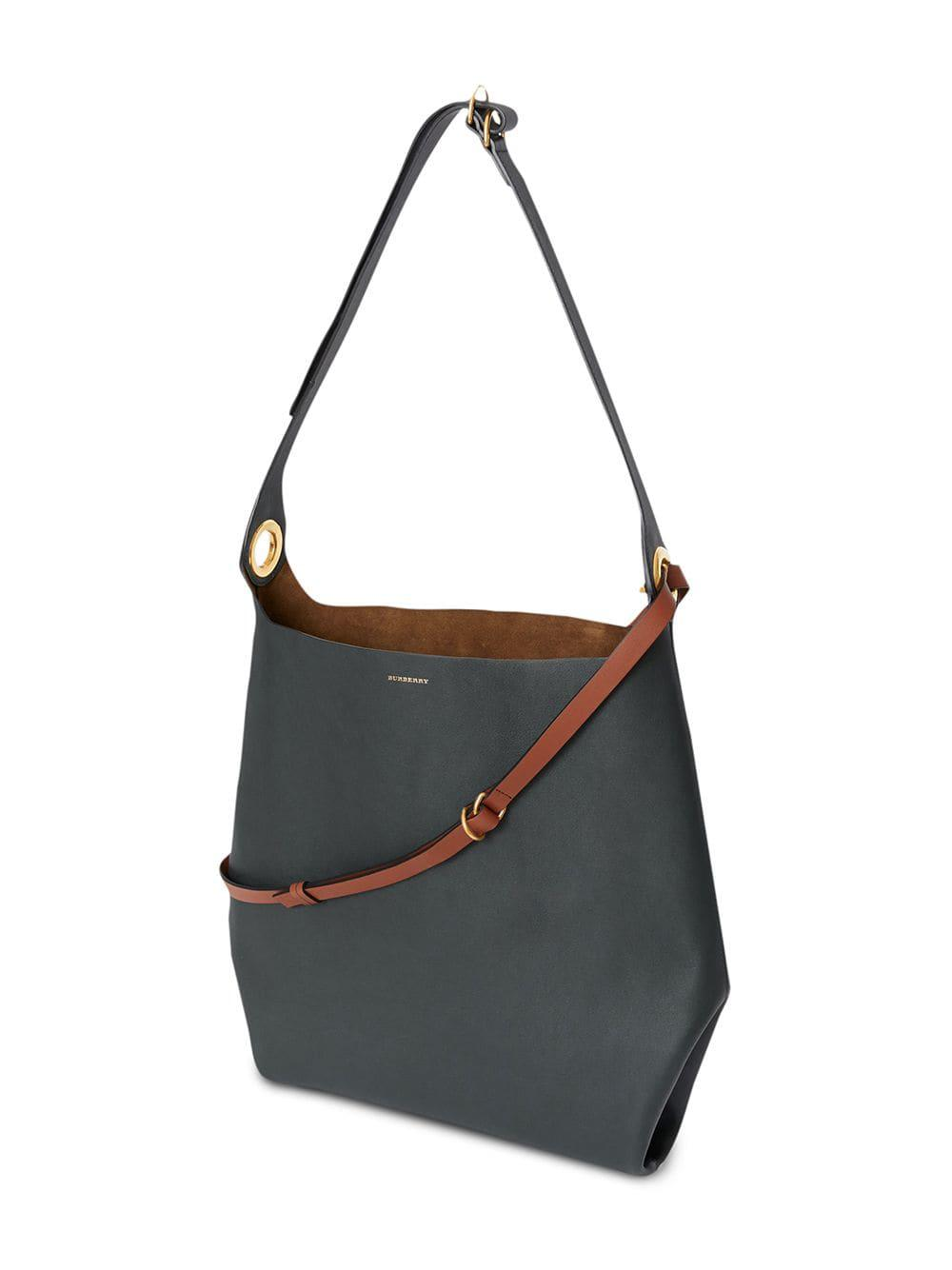 Burberry - Blue The Leather Grommet Detail Bag - Lyst. View fullscreen 8e24ce0ef6c87