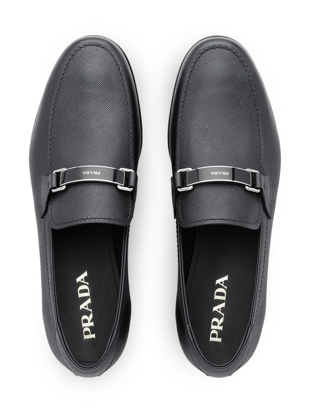 8dc7ff8b Men's Black Saffiano Leather Loafers