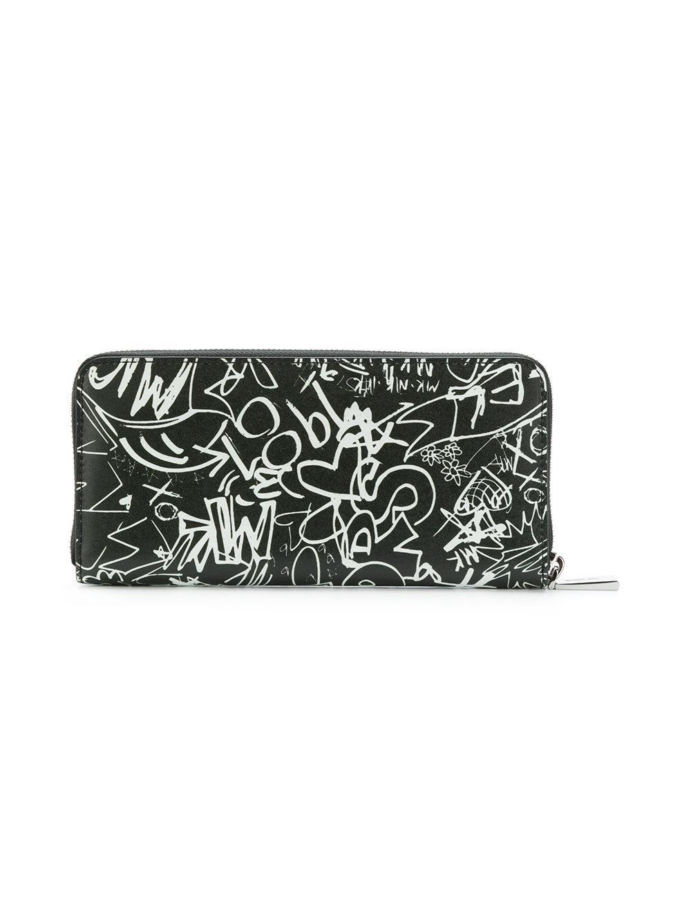 8e506f2f8bc6 coupon michael michael kors black printed design purse lyst. view  fullscreen 3d76d fc3c4