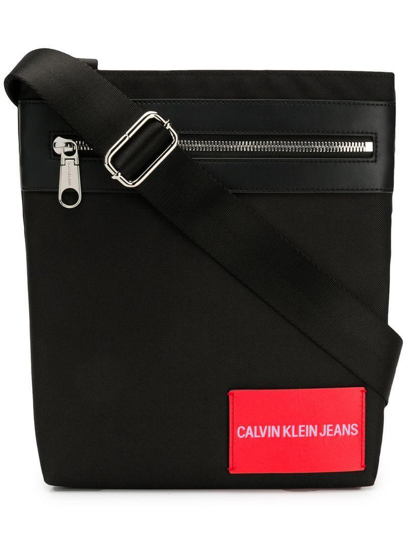 d9e0c6d704c Lyst - Calvin Klein Logo Messenger Bag in Black for Men