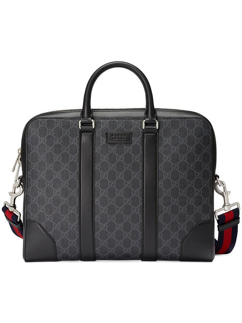 3ef0bac0374 Lyst - Gucci GG Supreme Briefcase in Black for Men - Save 12%