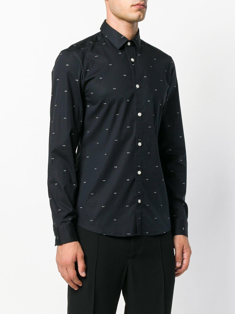 KENZO Eye Print Shirt in Black for Men
