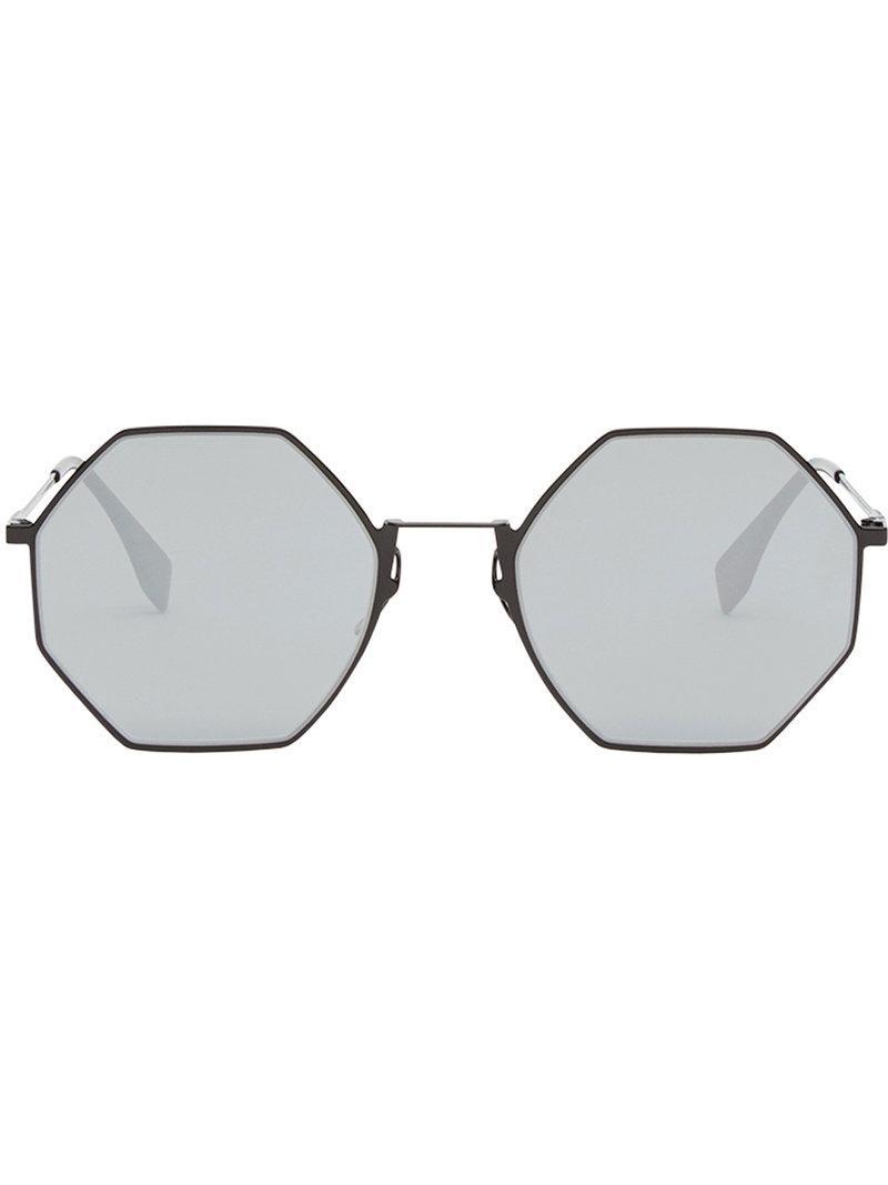 d0ef6ba852587 Lyst - Fendi Eyeline Sunglasses in Black