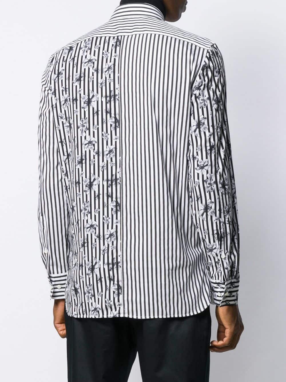 Neil Barrett Katoen Overhemd Met Print in het Zwart voor heren