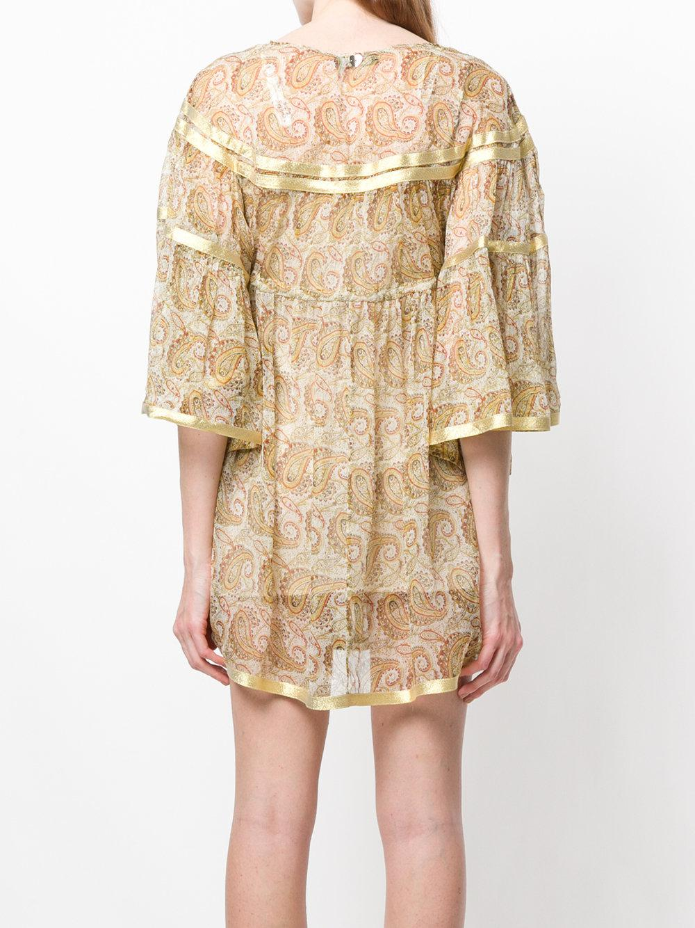 3/4 sleeve empire baby doll dress - Multicolour Twin-Set PbrGtId2Av