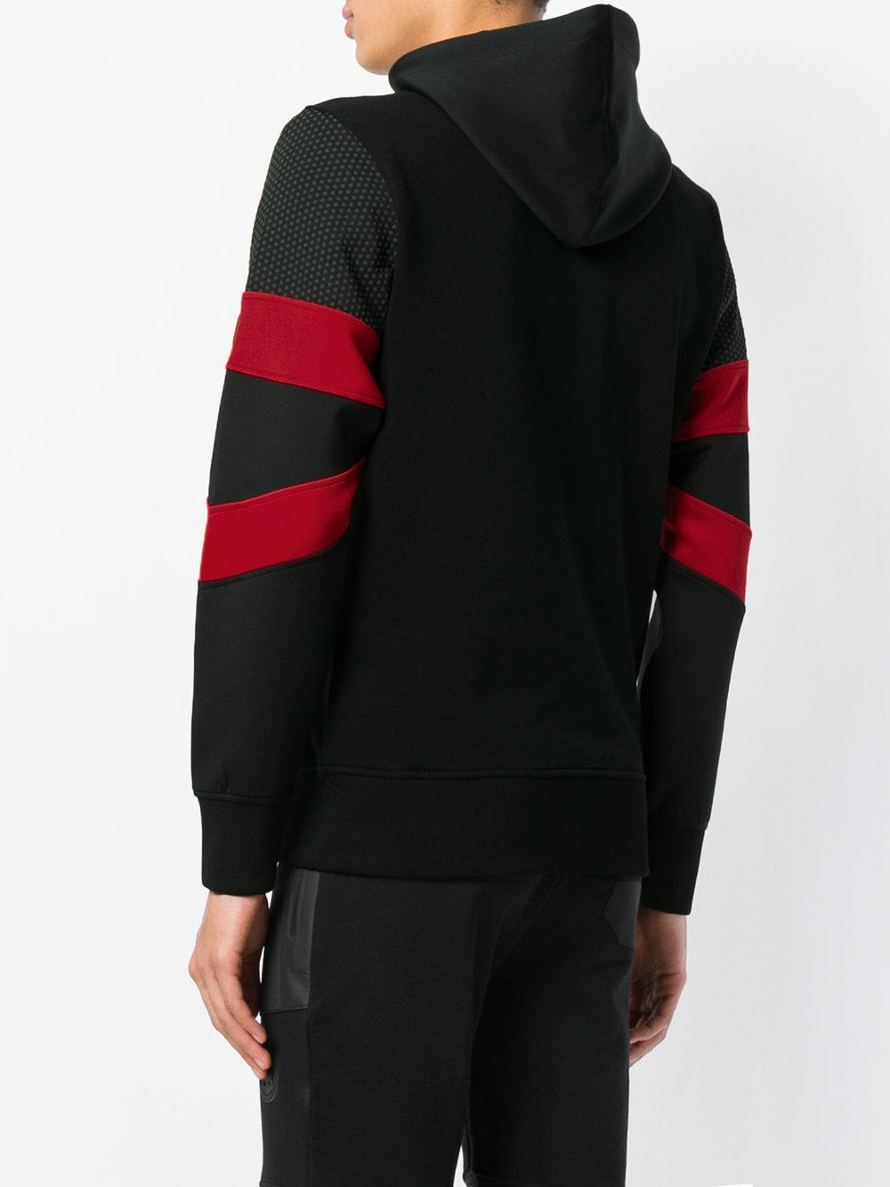 Hydrogen Cotton Panelled Sleeve Bomber Jacket in Black for Men