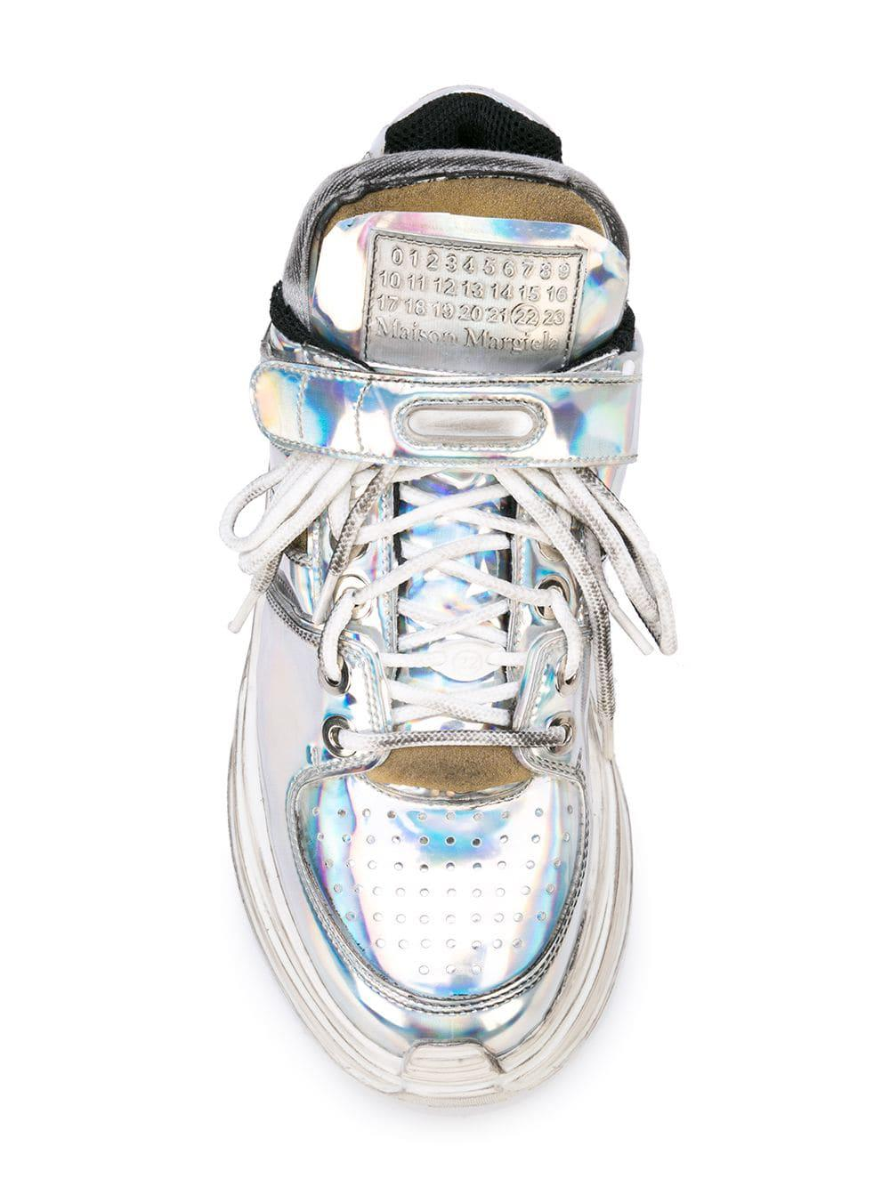 48598c6430d89 Lyst - Maison Margiela Holographic Platform Sneakers in Gray