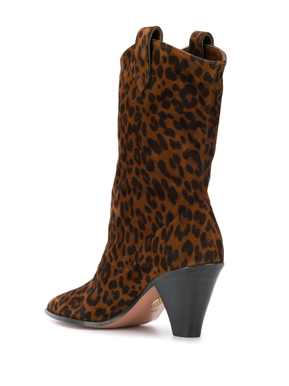 Botas estilo western con animal print Aquazzura de color Marrón
