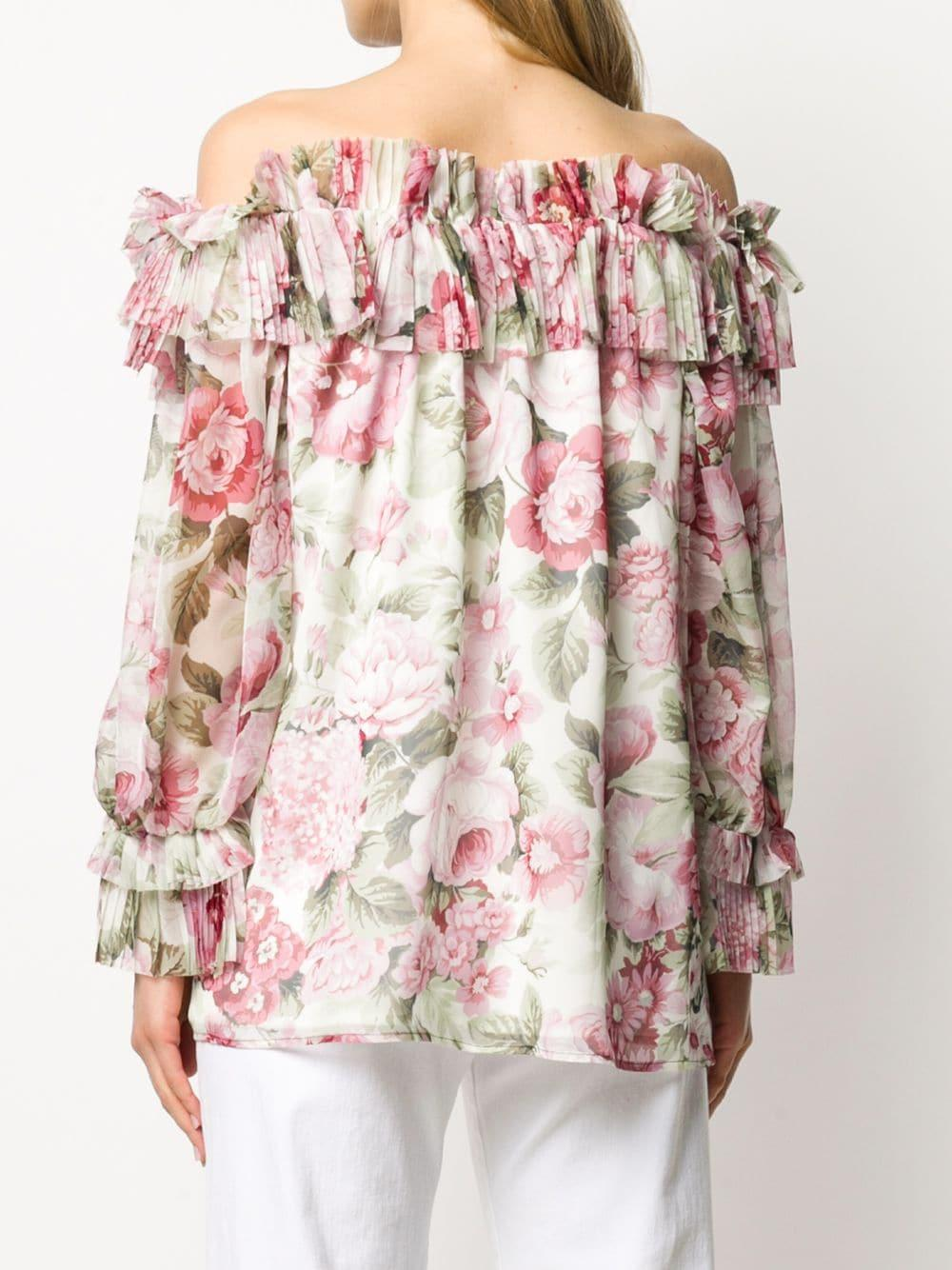 Blouse à épaules dénudées P.A.R.O.S.H. en coloris Rose