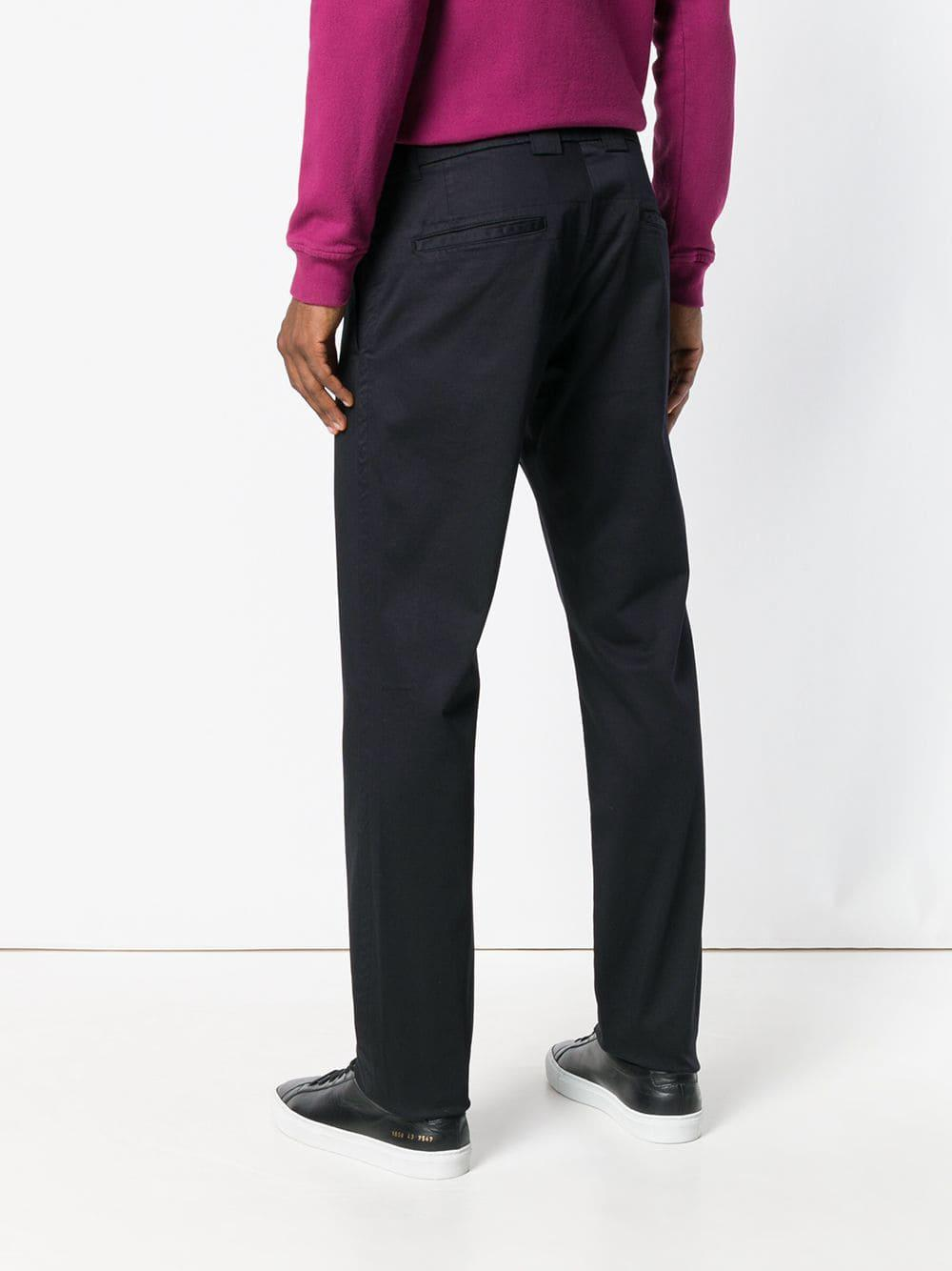 C P Company Cotton Basic Chino Trousers in Black for Men