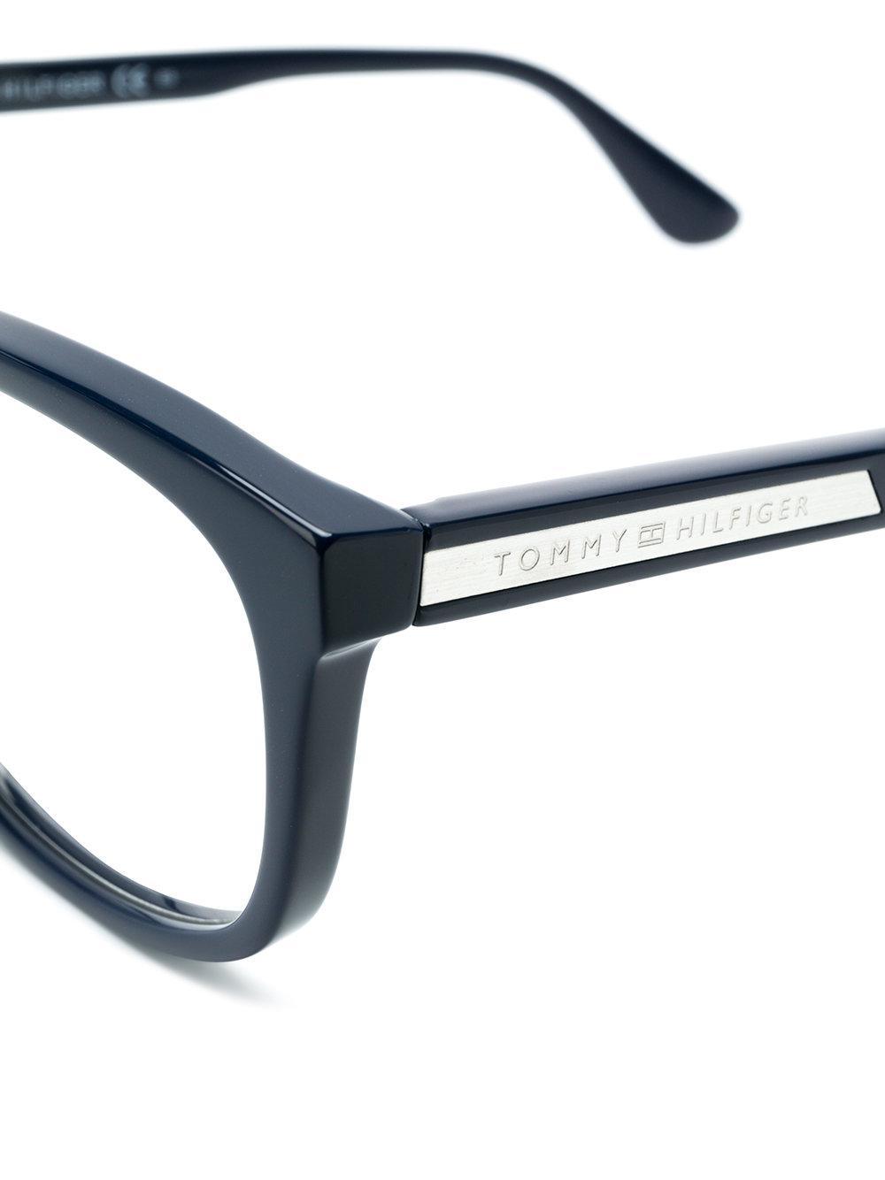 93206f20b5813 Tommy Hilfiger - Blue Lunettes de vue à monture carrée for Men - Lyst.  Afficher en plein écran