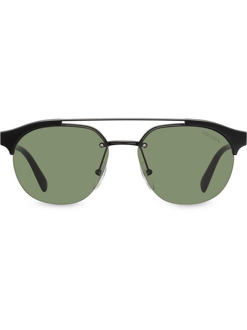 26781e8871 Prada - Black Gafas de sol estilo aviador for Men - Lyst. Ver en pantalla  completa