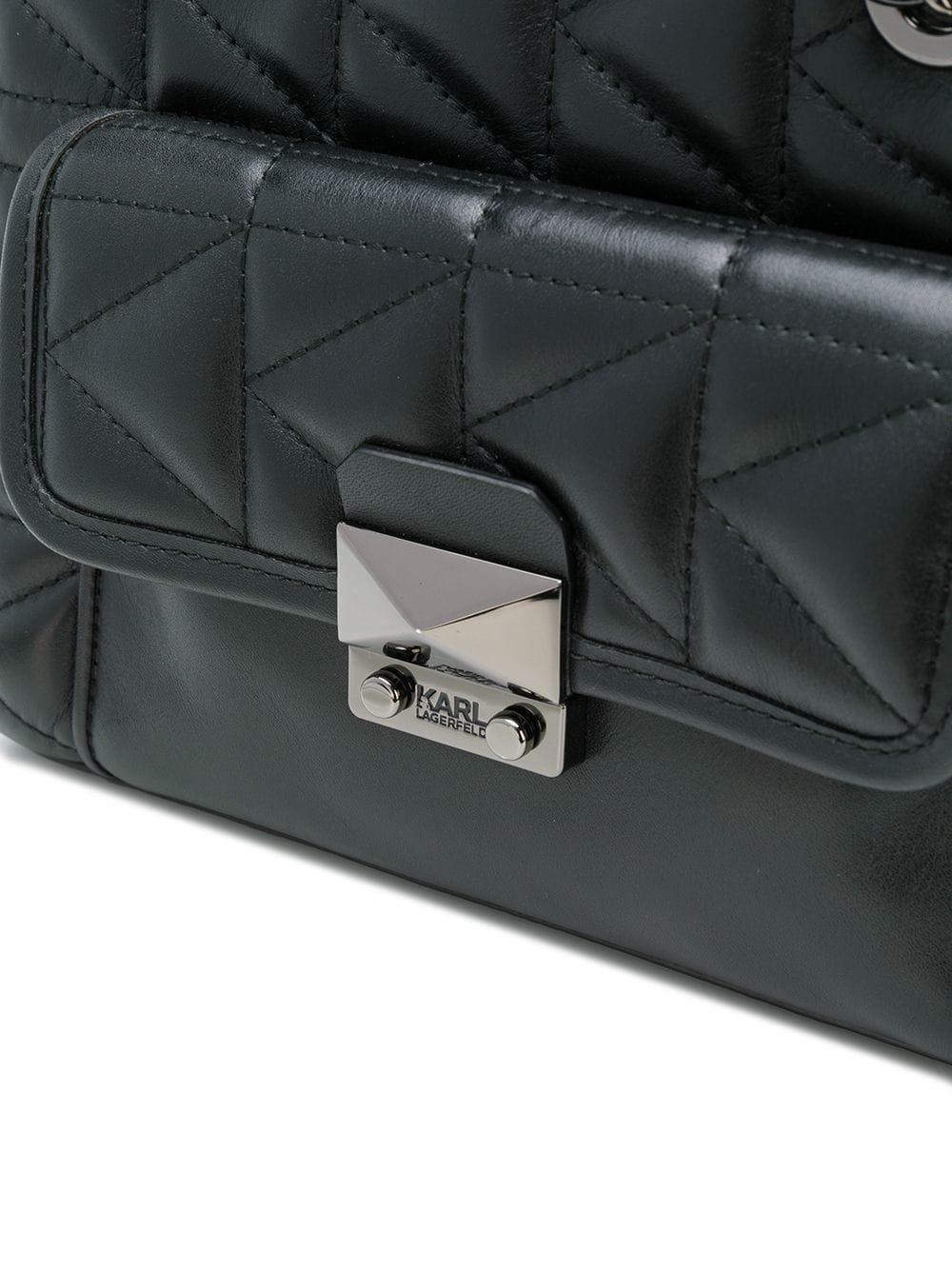 Sac Mini En Kkuilted Karl Coloris Main Lagerfeld Black À