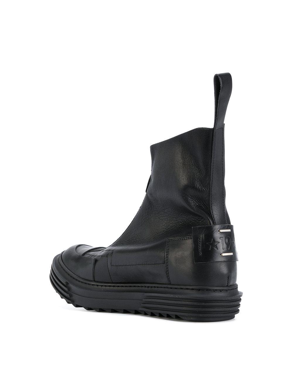 Lyst Artselab Front Zip Ankle Boots In Black For Men
