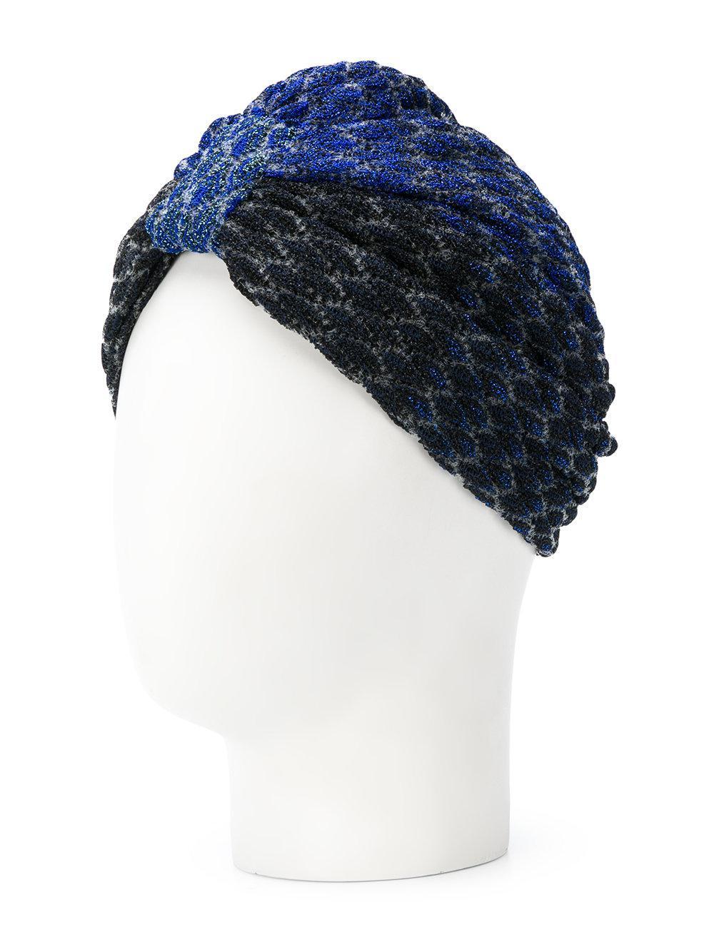 44b220c2751 Missoni - Blue Turban Knit Hat - Lyst. View fullscreen