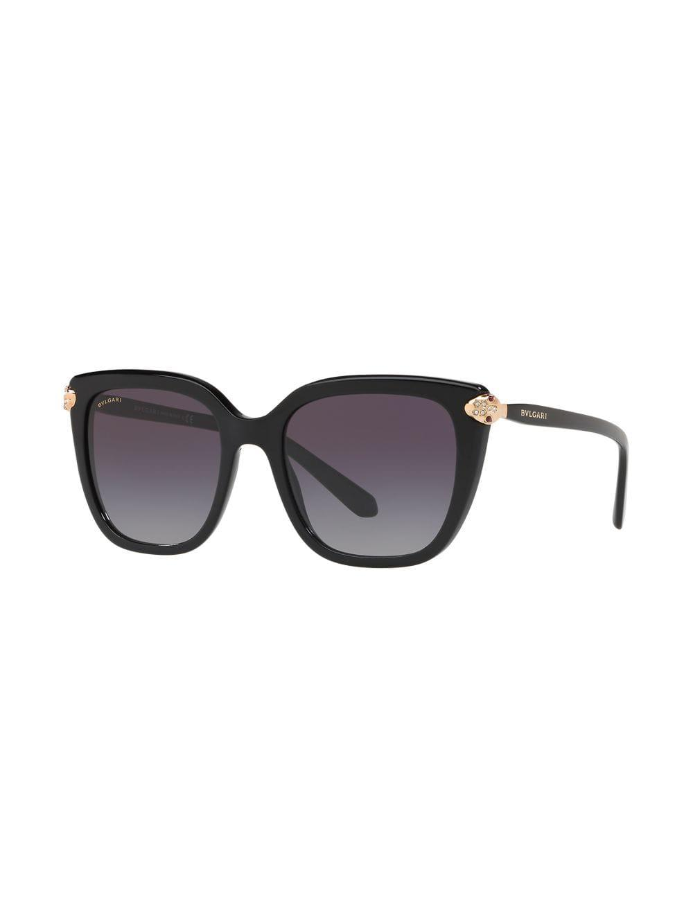 cdcaa3529ab7 Bvlgari Oversized Square Frame Sunglasses in Black - Lyst