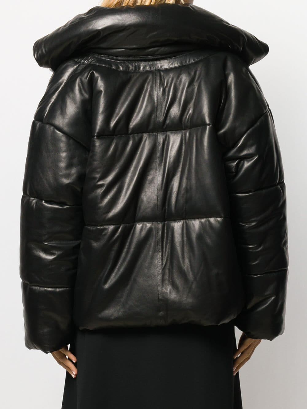 Chaqueta acolchada con hebillas Barbara Bui de color Negro