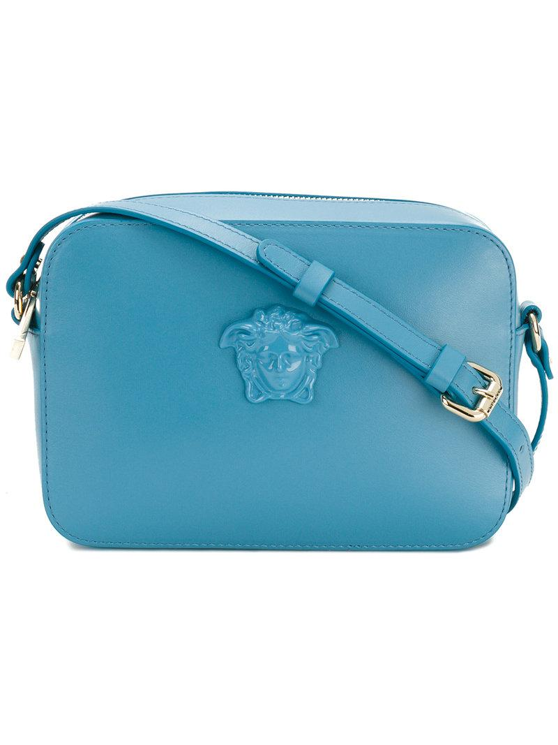 220f2ac4e6 Versace Medusa Palazzo Cross-body Bag in Blue - Lyst