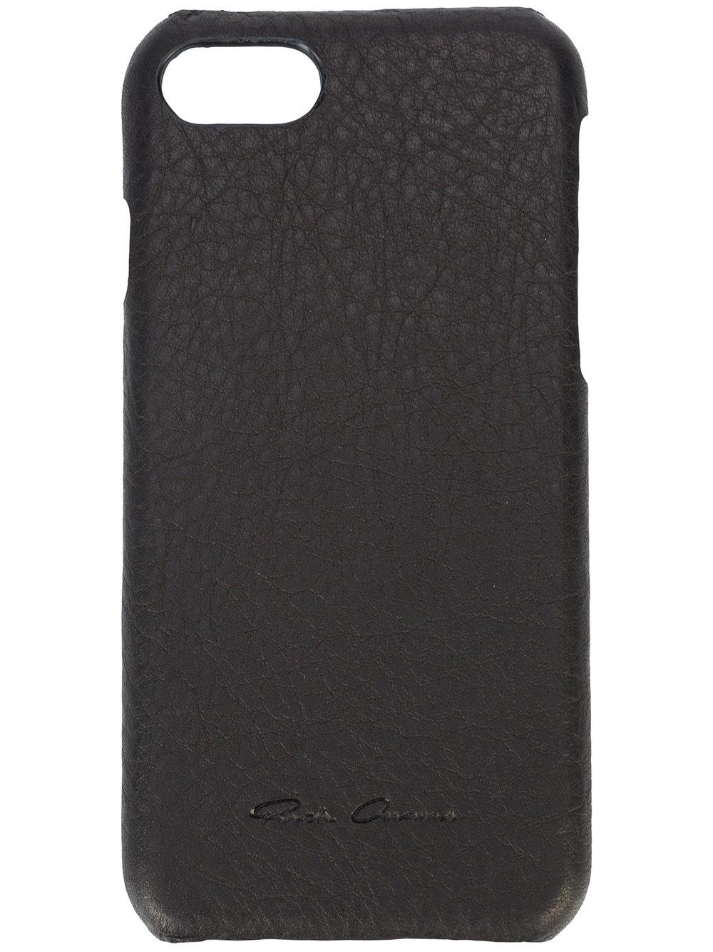 Rick Owens Leather Logo Iphone Case in Black - Lyst