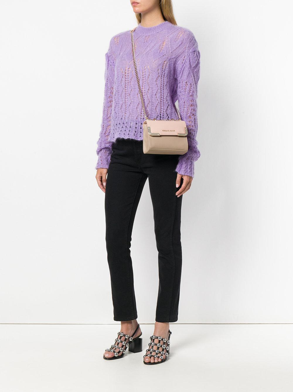 Versace Jeans Couture Denim Bicolour Crossbody