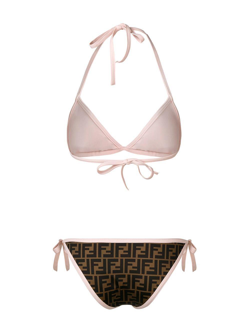 48c4fa0a72 Fendi - Brown Ff Bikini - Lyst. View fullscreen