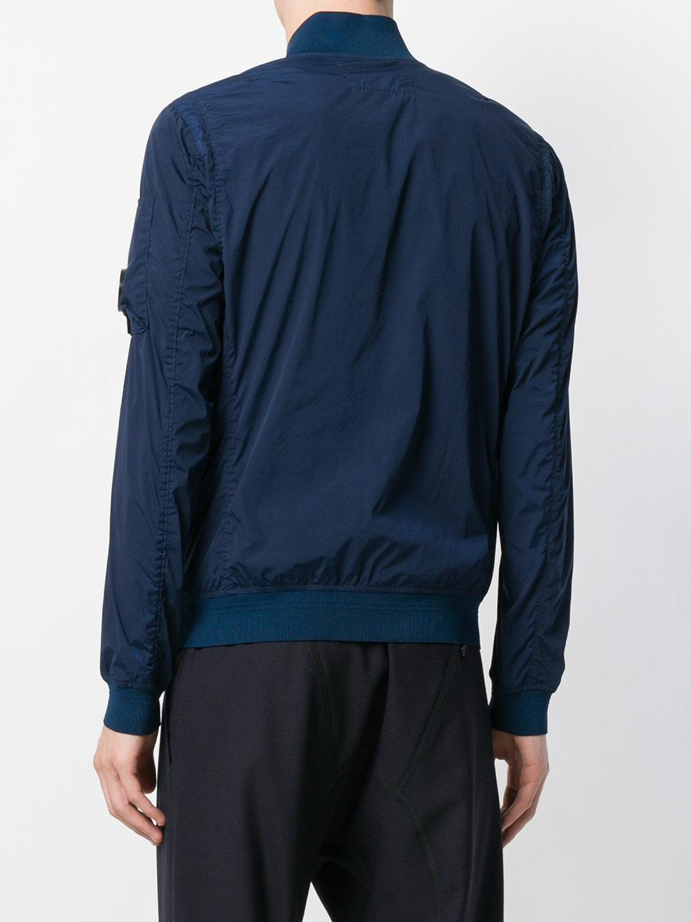 C P Company Cotton Nycra Military Bomber Jacket in Blue for Men