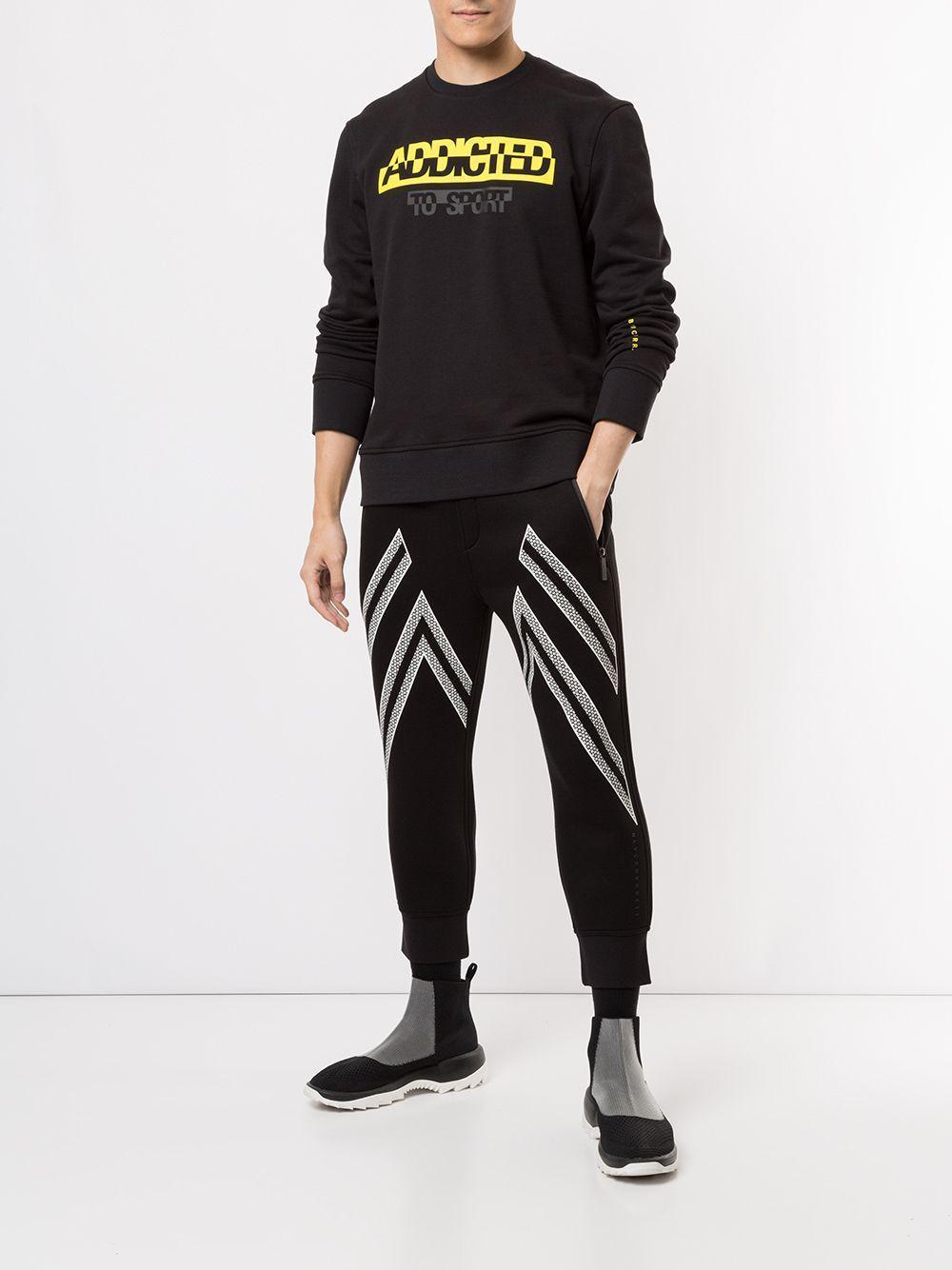 Neil Barrett Katoen Sweater Met Tekst in het Zwart voor heren