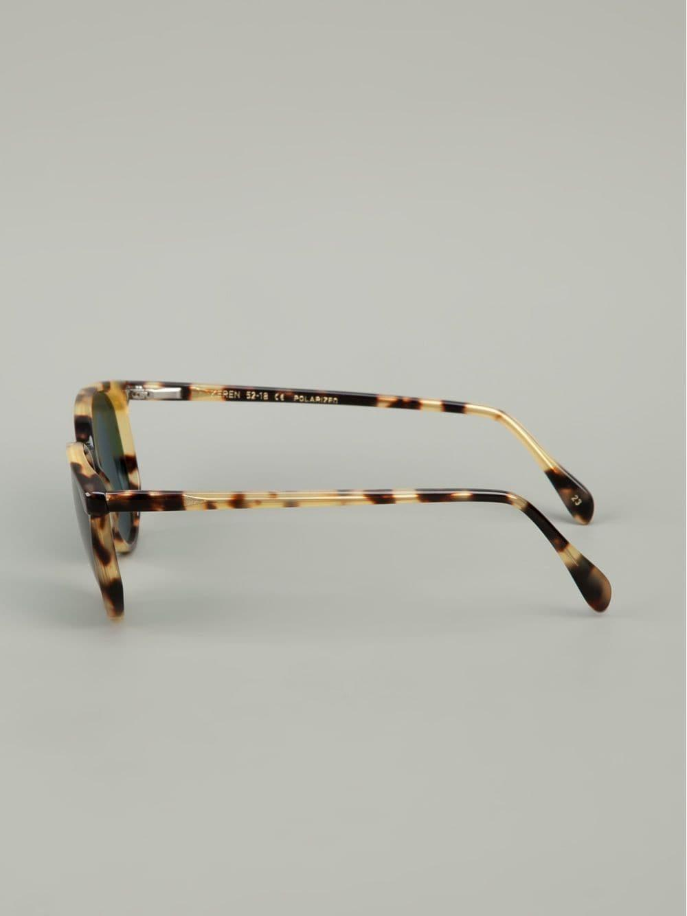 Lgr Round Frame Sunglasses in Brown