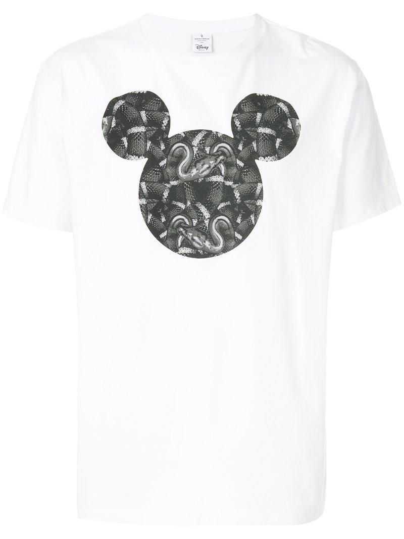 c2b43c00 Marcelo Burlon Mickey Mouse Snakes T-shirt in White for Men - Save ...