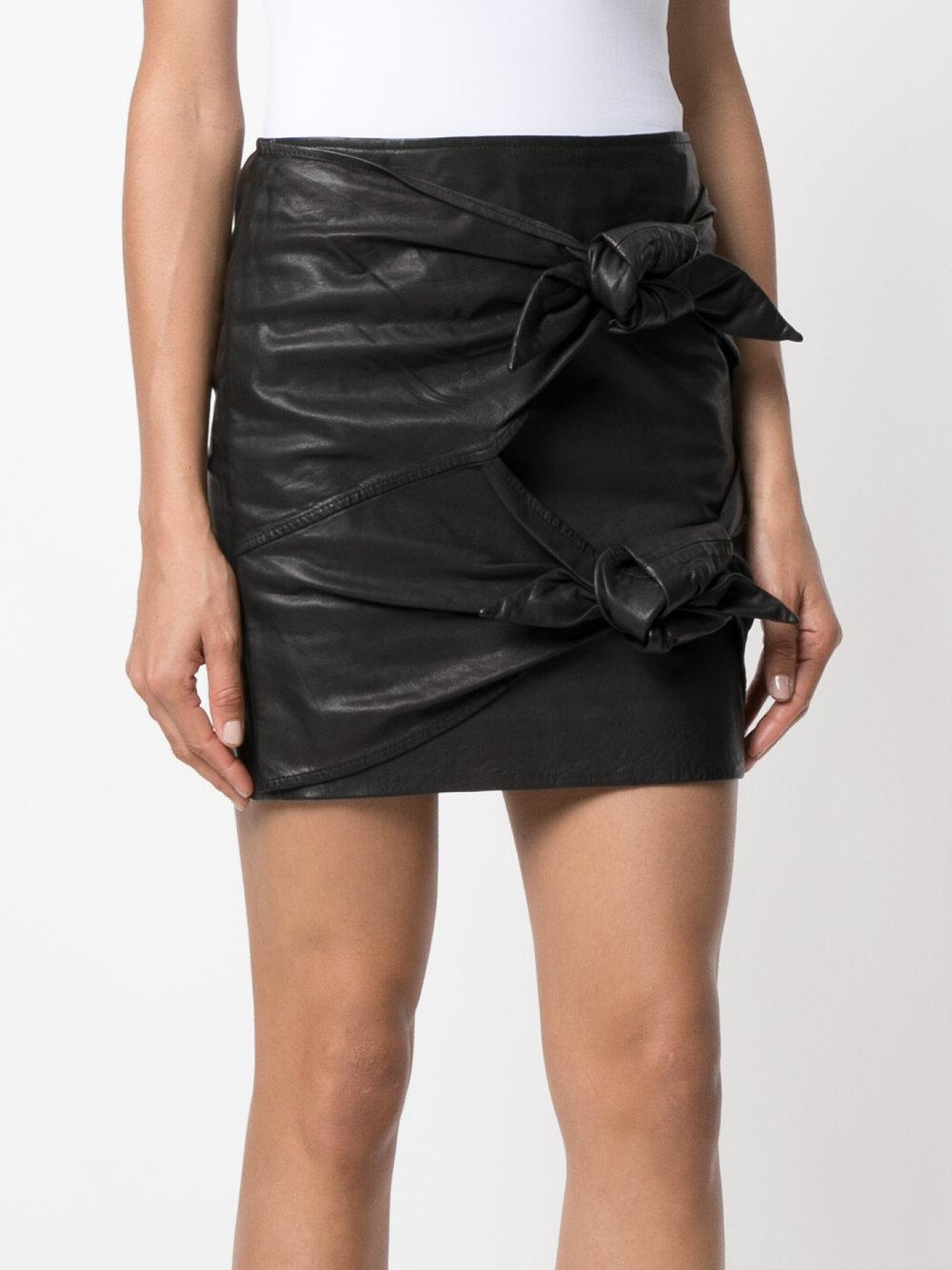Free Shipping Comfortable knotted mini skirt - Black Isabel Marant Best Place For Sale From China Free Shipping Low Price CusJc