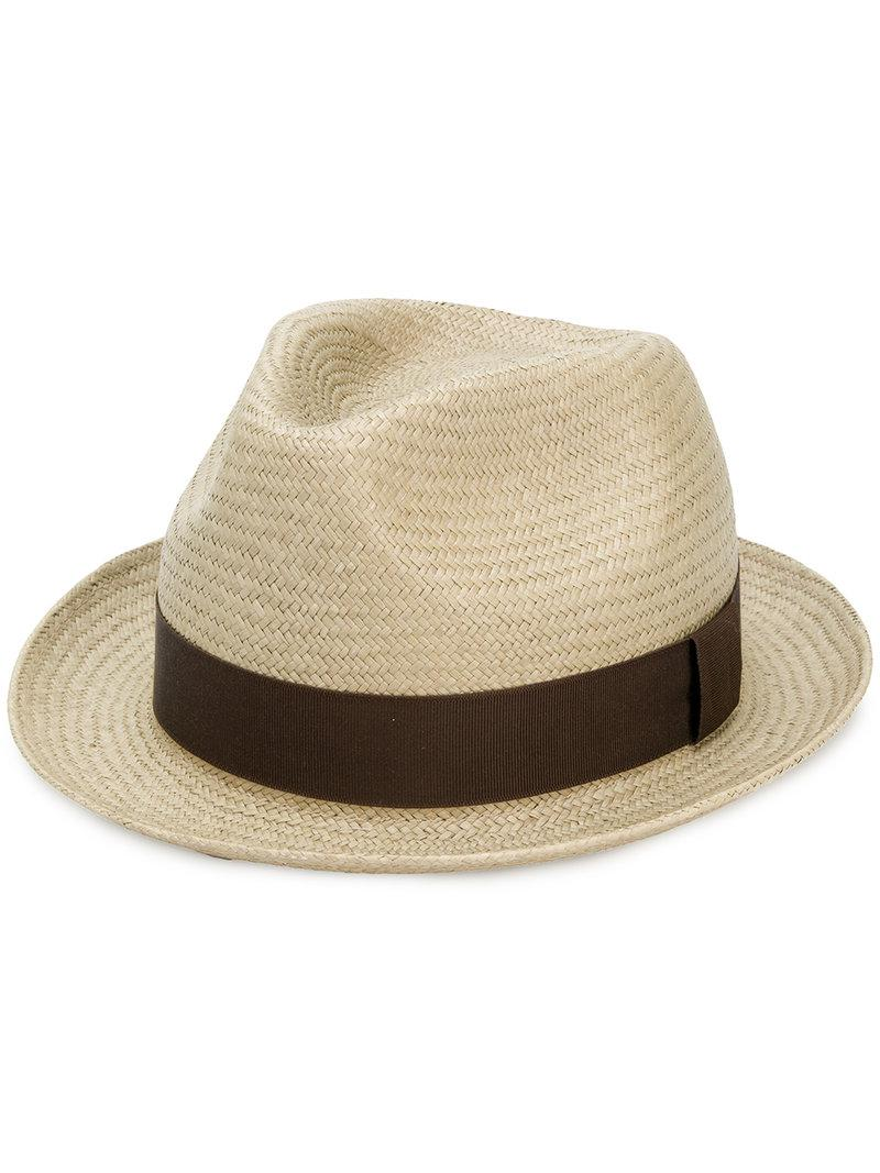 1b35b9c238f96 Lyst - Paul Smith Panama Hat in Natural for Men