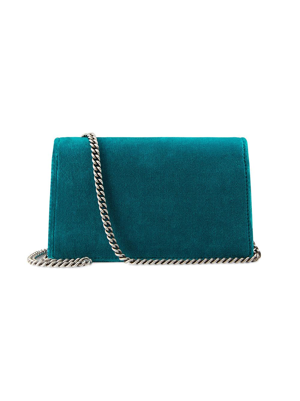 03a0e9721d Lyst - Gucci Dionysus Velvet Super Mini Bag in Blue