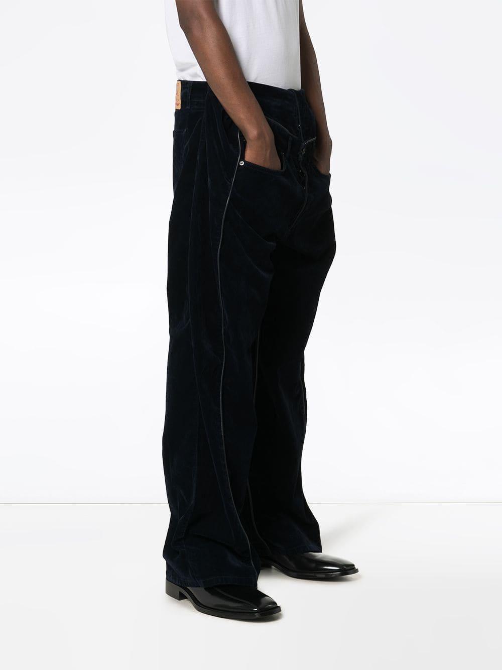 Y. Project Denim Jeans Met Detail in het Blauw voor heren