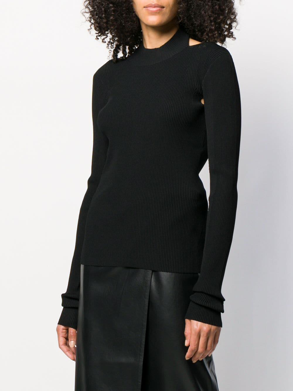 Jersey con espalda descubierta Helmut Lang de Tejido sintético de color Negro