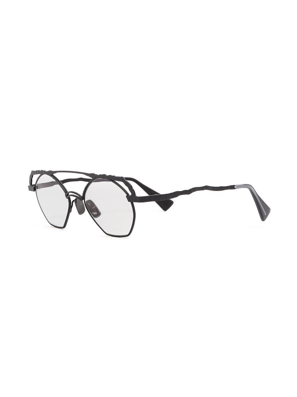 Kuboraum Aviator Sunglasses in Black